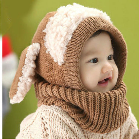 Christmas Baby Hats With Ears Hat Scarf