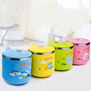 Mambobaby Cartoon Baby Cup Kettle Children Learn Feeding Drinking 220ML