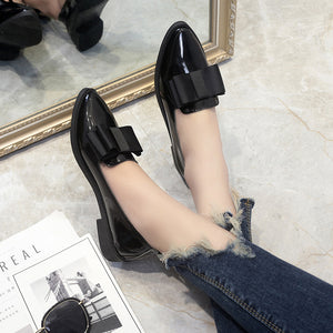 Shoes Women Casual Pointed Toe Black Oxford Shoes for Women Flats Comfortable Slip on Women Shoes b971
