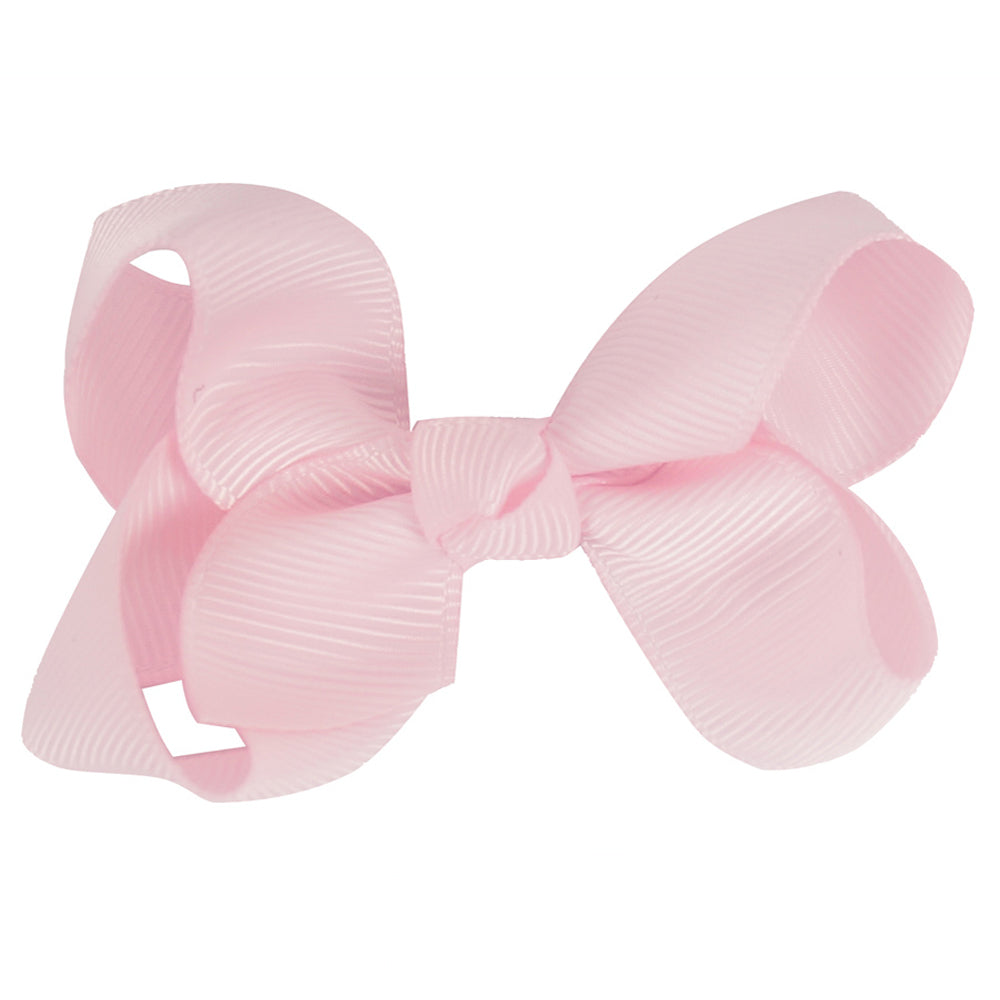 "50 Pcs/lot 3"" Plain Ribbon Hair Bows For Girls Kids Boutique Handmade Bows With Clips"