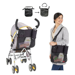Black Waterproof Baby Bag for Wheelchairs Stroller Organizer Multi-functional Mother Bag 1 PC