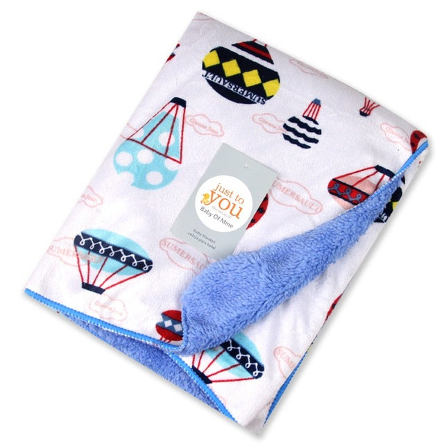 Baby Blanket Double Layer Wrap For Newborn Baby Bedding Blankets