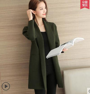 Sweater Cardigan Women winter Jacket Loose Big yards joker Long Sweaters coat  QYX146