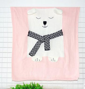 Autumn Lovely Cotton Baby Blanket Cartoon Bear Baby Bed Newborn Wrap Blanket