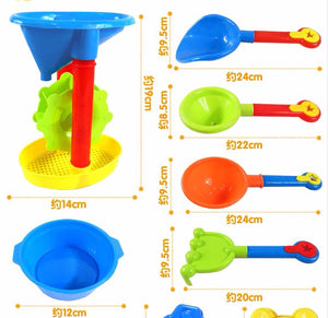 Children's beach toys baby suit men and kids playing in the sand