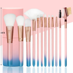 Face Eyes Lips  Soft Synthetic Hair 12pcs Professional Makup Brushes Set
