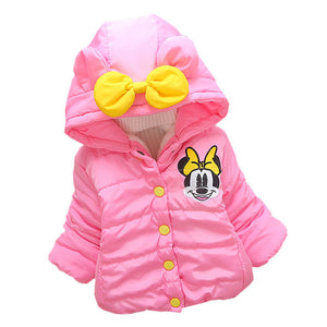 Baby Girls Jacket Autumn Winter Jacker For Girls Winter Coat Kids Warm Hooded Children Outerwear