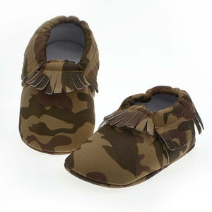 Baby Kids Toddler Soft Tassel Style Comfortable Baby Shoes Unique Army Green Color 0-15 Months