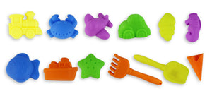 12pcs a lot Funny Small Colorful Full Beach Sand Tools With different Model Toy Set for Baby