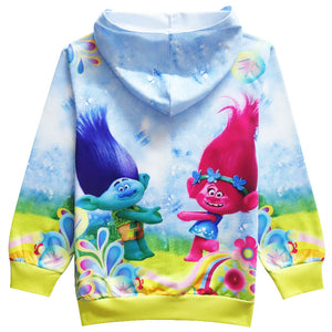 Spring Autumn Kids Girls Tops Tees Boys Long Sleeve Cotton Coat