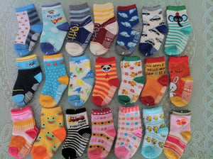 ( 10 pairs/lot ) 100% Cotton Baby Socks Cartoon Small Kid's Cotton Socks