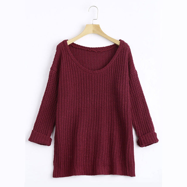 Autumn Winter Casual Korean Style Knitted Sweater Women