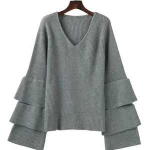 Autumn Winter Black Sweater Pull Femme Women
