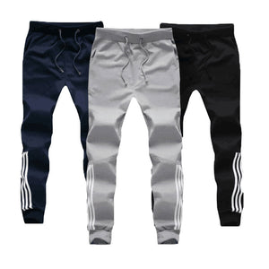 M-5XL Large Size Baggy Cotton Sweatpants Male Joggers Striped Pants Tracksuit Bottoms Mens Pants Gyms Clothing