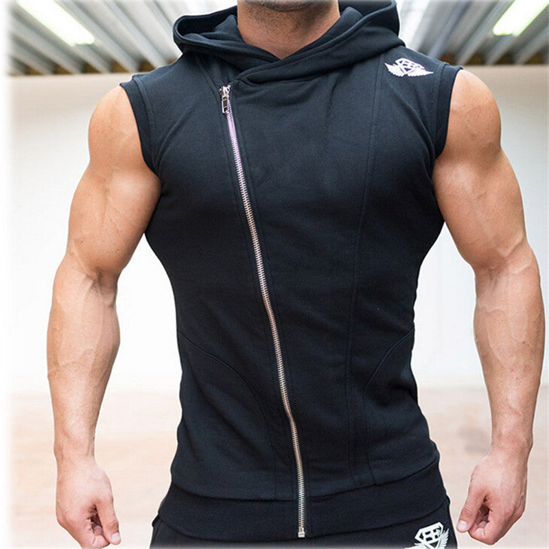Sweatshirt Hoodies Top Clothing Hooded Tank Top Sporting Hooded for Men Cotton Solid Hooded