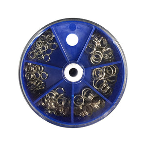 115pcs Antirust Stainless Steel Double Split Rings Connection Ring of Full Size Fishing Accessories