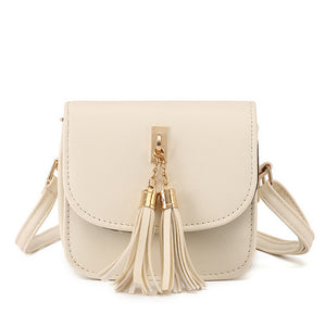 Bag Women Candy Color Tassel Messenger Bags Female Handbag Shoulder Bag