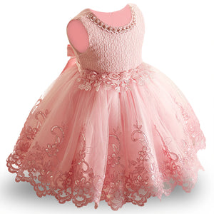 New Lace Baby Girl Dress 9M-24M 1 Years Baby Girls Birthday Dresses Vestido birthday party princess dress