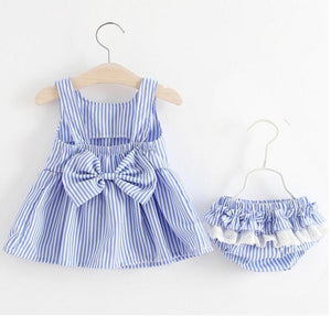 Baby Girls Dress Big Bowknot Infant Party Dress For Toddler Girl First Brithday