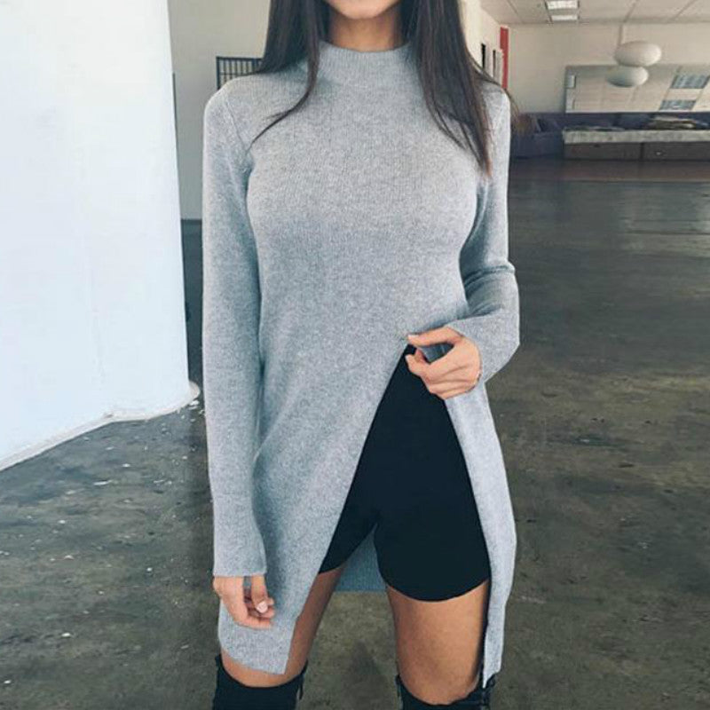Winter Sweatshirt Women Long Sleeve Top Knitted HoodyPullover Women's Clothing Turtleneck GV148