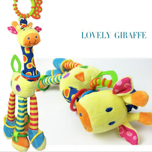 Free shipping The giraffe car hanging bed the bell Infants  plush bell BB tooth gum Newborn baby