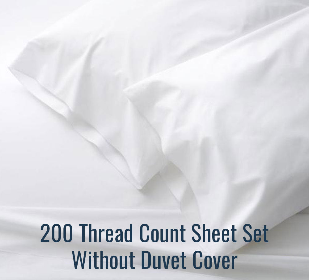 200 TC Sheet Set (Without Duvet Cover) - Family Size