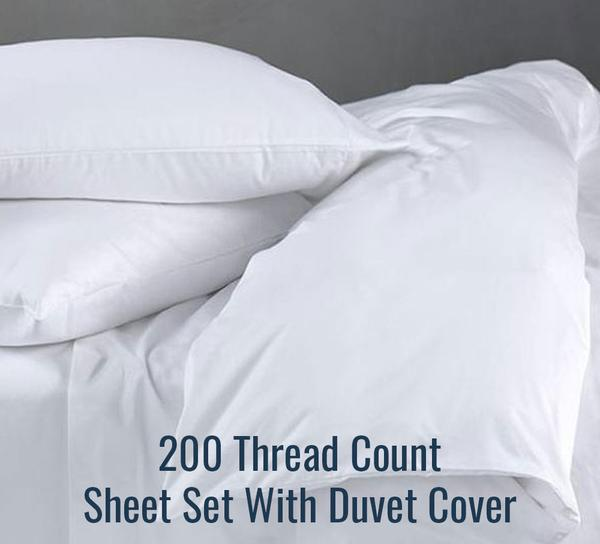 200 TC Sheet Set (With Duvet Cover) - Family