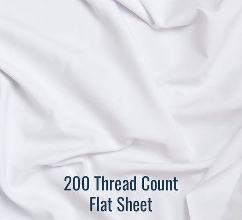200TC Percale Flat Sheet