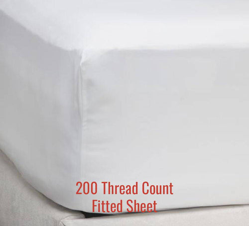 200TC Percale Fitted Sheet