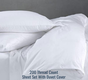 200 TC Percale Sheet Set (With Duvet Cover)