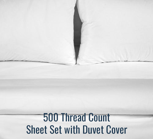 500TC Sateen Sheet Set (With Duvet Cover) - Ace Size