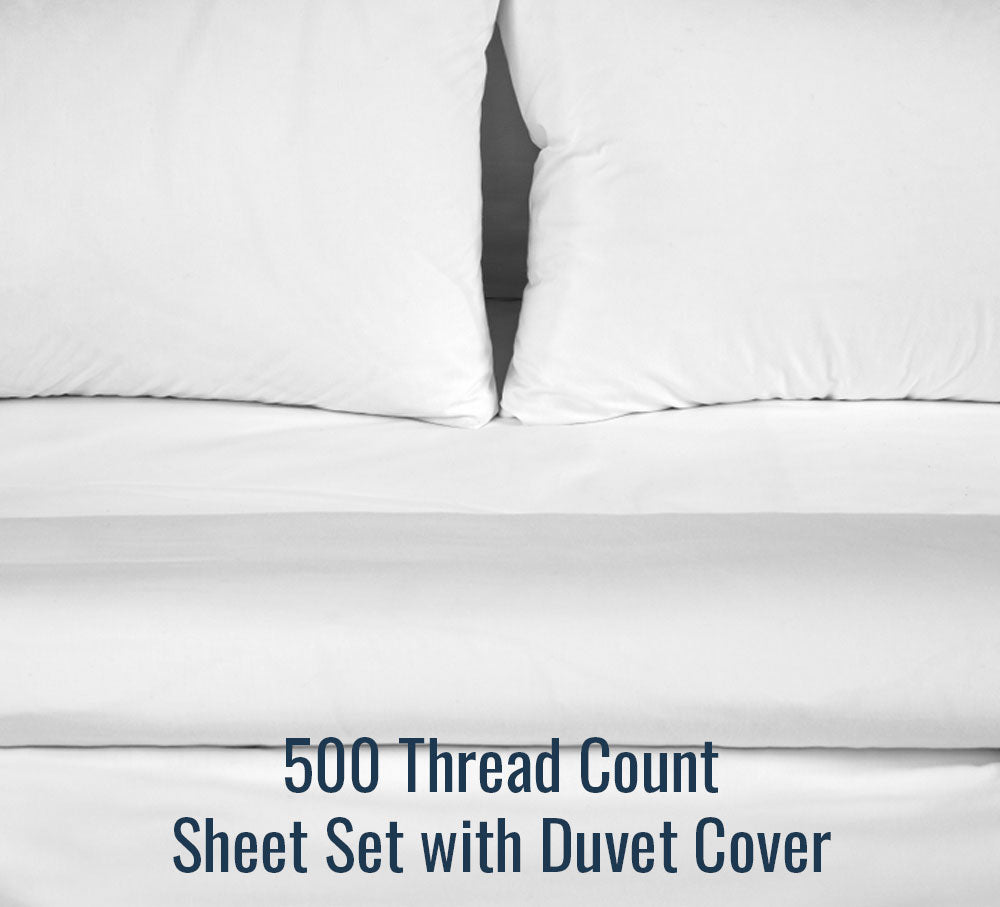 500 Thread Count Sheet Set (With Duvet Cover)