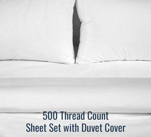 500TC Sateen Sheet Set (With Duvet Cover) - Family Size