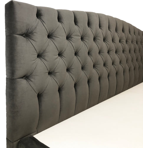 Curved Tufted Headboard - Player Size