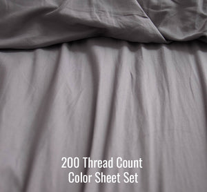 Color Sheet Set (Without Duvet Cover)