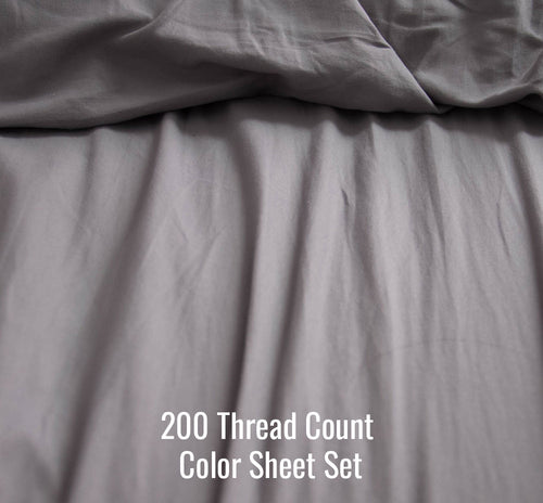 200 TC Percale Colors and Prints Sheet Set (Without Duvet Cover) - Ace Size
