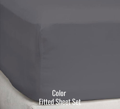 200 TC Percale Colors and Prints Fitted Sheet - Ace Size