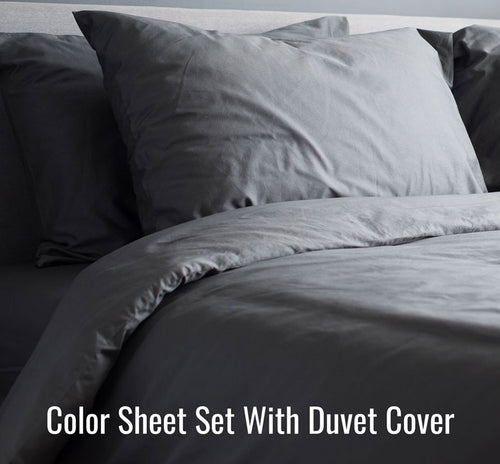 Color Sheet Set (With Duvet Cover)