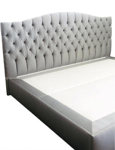 Curved Tufted Headboard