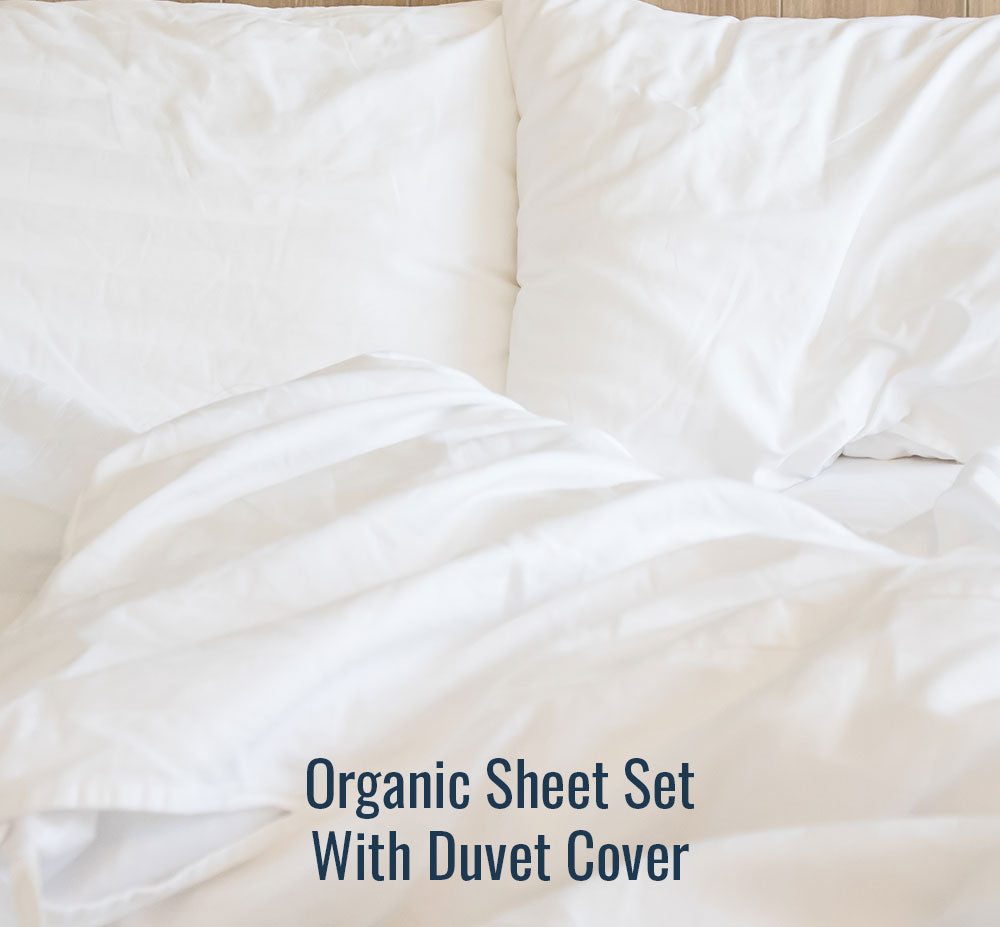 Organic Sheet Set (With Duvet Cover) - Family Size
