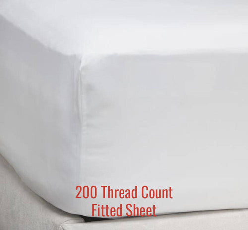 200TC Percale Fitted Sheet - Ace Size