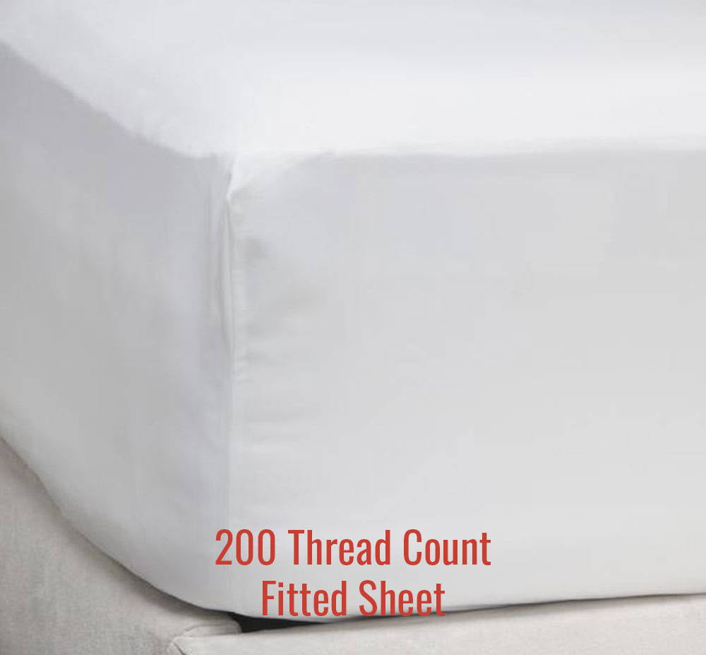 200TC Fitted Sheet - Family Size