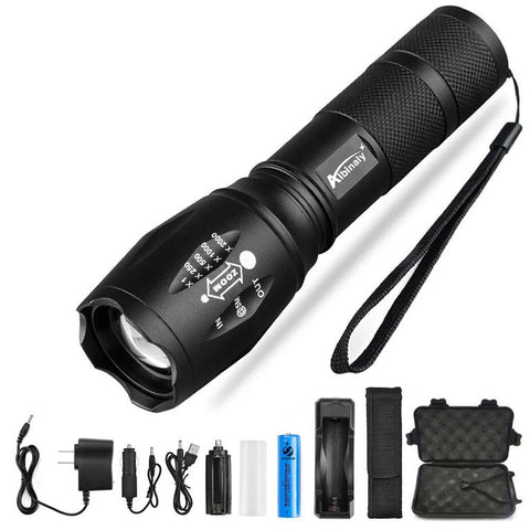 LED Flashlight Battery+Charger+Free Gift, Alphalifestyle.shop - Alphalifestyle.shop