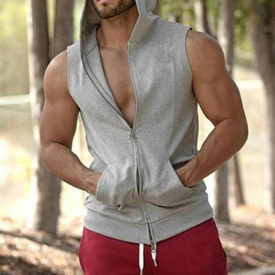 Zipper Hooded Tank