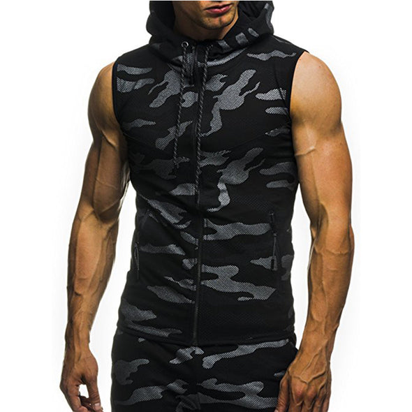 Casual Camouflage Hooded Tank