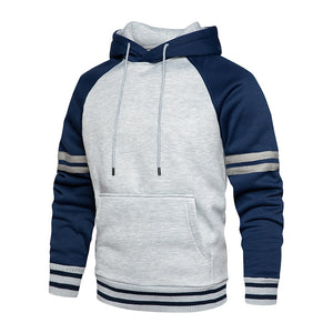 Casual Outdoor Striped Hoodie