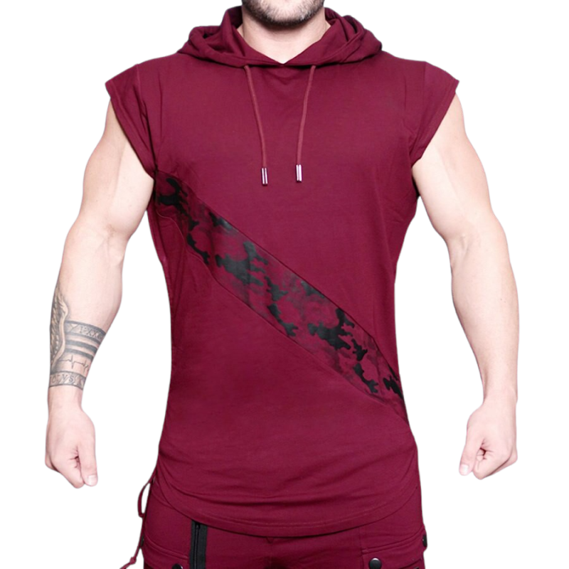 Sleeveless Hooded Tank Top