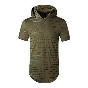 Stretchy Hooded T-Shirt