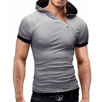 Zipper Hooded T-Shirt