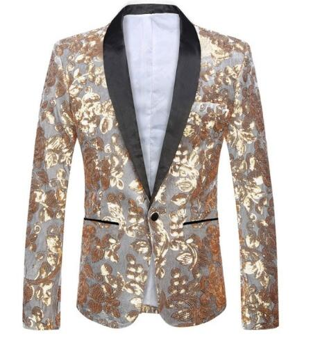 White Sequined Blazer